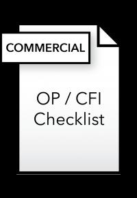 Form_OP_CFI Checklist - Commercial