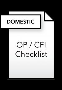 Form_OP_CFI Checklist - Domestic